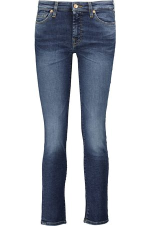 7 for all Mankind Damen High Waisted - Mid-Rise Cropped Jeans Pyper