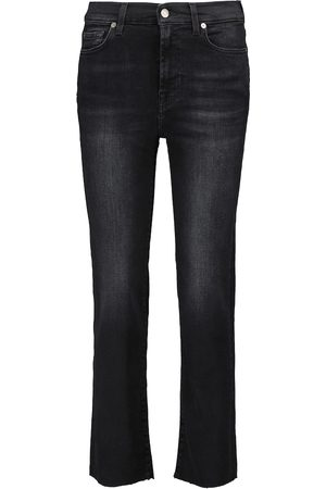 7 for all Mankind Mid-Rise The STraight Crop Jeans