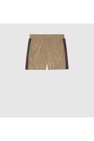 Gucci Herren Badehosen - Badeshorts aus wasserdichtem Nylon mit GG
