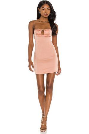 superdown Luna Lace Mini Dress in - Pink. Size L (also in XXS, XS, S, M, XL).