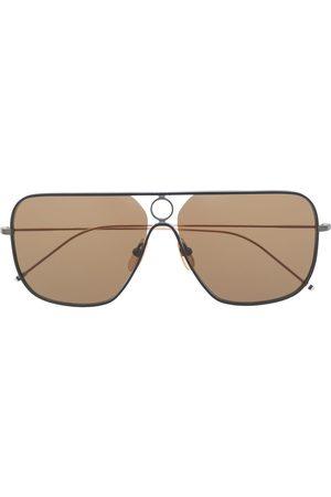 Thom Browne Eyewear Sonnenbrillen - TB114 rectangular aviator sunglasses