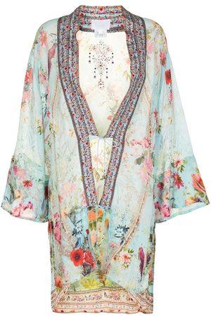Camilla Damen Bedruckte Kleider - Floral-print silk dress
