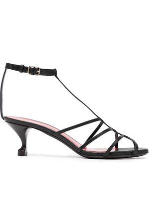 SHANGHAI TANG X Yuni Ahn strappy kitten heel sandals