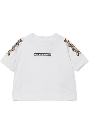 Burberry Kids Slogan-print short-sleeve T-shirt
