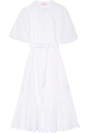 Tory Burch Damen Strandkleider - Kleid Mit Lochspitze weiss