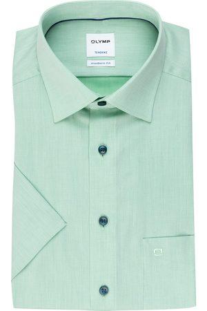 Olymp Herren Business - Kurzarm-Hemd Tendenz Modern Fit gruen