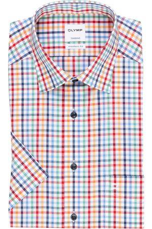 Olymp Herren Business - Kurzarm-Hemd Tendenz Modern Fit orange