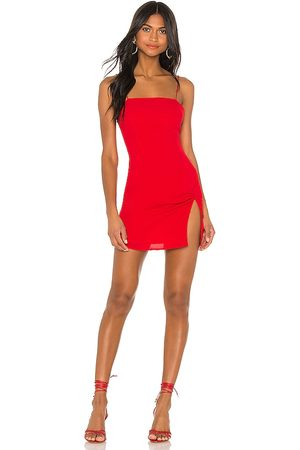 superdown Syrus Slit Mini Dress in - Red. Size L (also in XS, M).