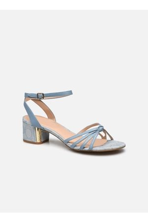 Coach Elouise Leather-Jacquard Sandal by