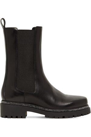 RENÉ CAOVILLA Damen Chelsea Boots - 25mm Hohe Chelseastiefel Aus Leder