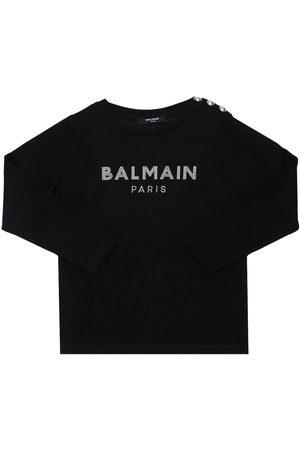 BALMAIN T-shirt Aus Baumwolljersey