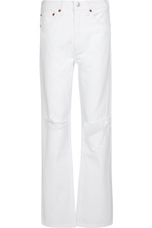 RE/DONE High-Rise Straight Jeans