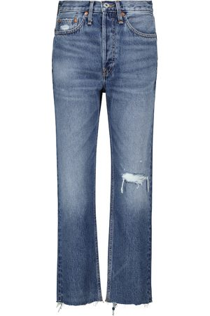 RE/DONE High-Rise Jeans 70s Stove Pipe