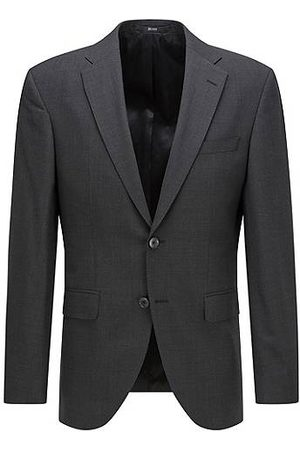 BOSS Herren Blazer & Sakkos - Regular-fit jacket in a melange wool blend