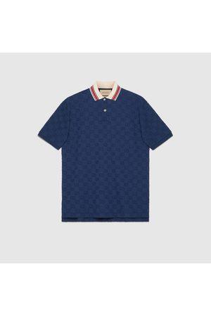 Gucci Herren Poloshirts - Poloshirt aus Stretch-Baumwolle mit GG Motiv
