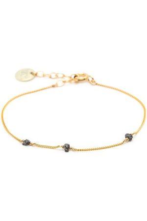 YAY Paris Bracelet diamants Simple or jaune noir by