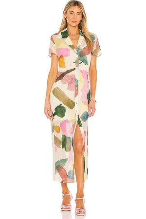 Song of Style Damen Midikleider - Holland Midi Dress in - Cream. Size M (also in S).