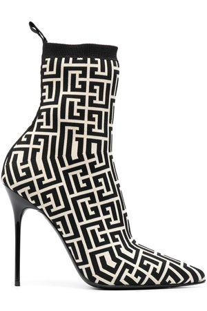 Balmain Damen Stiefeletten - Skye stretch knit ankle boots