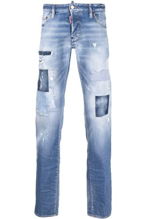 Dsquared2 Herren Bootcut - Distressed stonewashed bootcut jeans