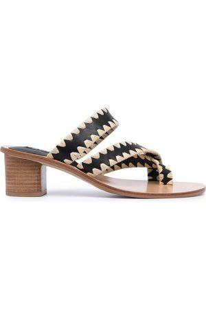 SENSO Damen Sandalen - Lola raffia-stitch sandals