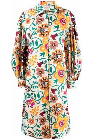 La DoubleJ Damen Bedruckte Kleider - Floral-print cotton shirt dress