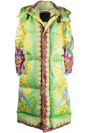 Philipp Plein Baroque-print long padded jacket