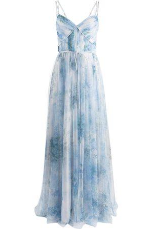 Marchesa Notte Damen Bedruckte Kleider - Sora floral-print strappy dress