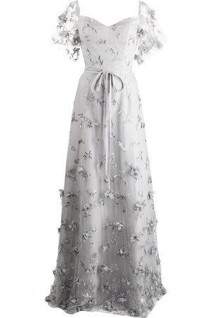Marchesa Notte Damen Bedruckte Kleider - Portici floral-embroidered dress