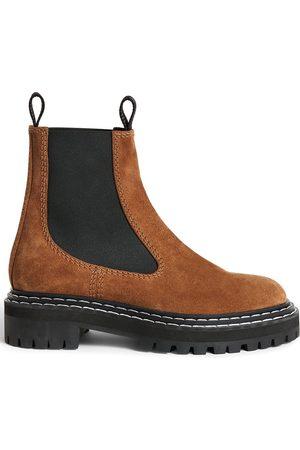 Proenza Schouler Contrast-stitch suede Chelsea boots