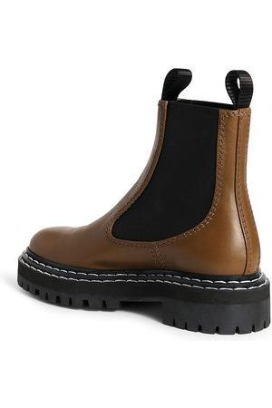 Proenza Schouler Lug sole contrast-stitch ankle boots