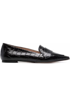 Scarosso Croc-effect pointed loafers