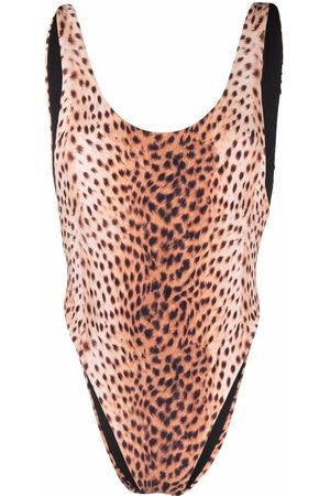 Reina Olga Tiger-print swimsuit