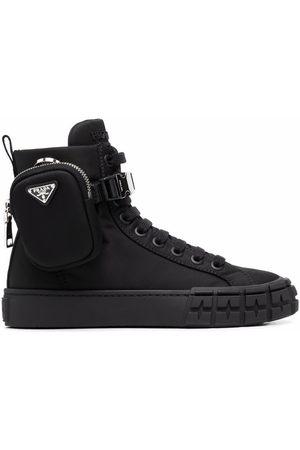 Prada Damen Sneakers - Re-Nylon pouch detail high-top sneakers