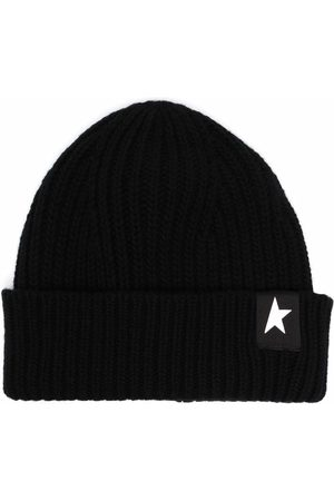 Golden Goose Hüte - Star patch ribbed beanie