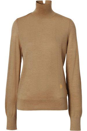 Burberry Embroidered-monogram jumper
