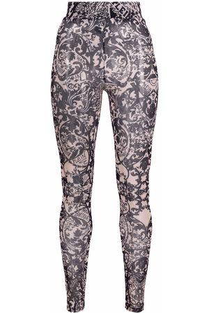 Philipp Plein New Baroque printed tulle leggings