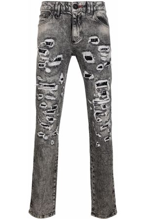 Philipp Plein Herren Slim - Distressed slim-cut jeans