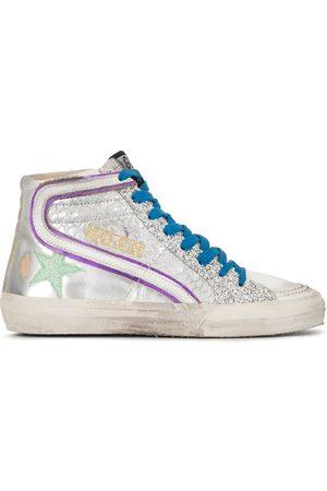 Golden Goose Damen Sneakers - Glitter high-top sneakers