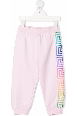 Versace Kids Greca-pattern print sweatpants