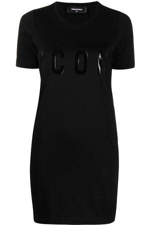 Dsquared2 Damen Freizeitkleider - Logo-print shirt dress