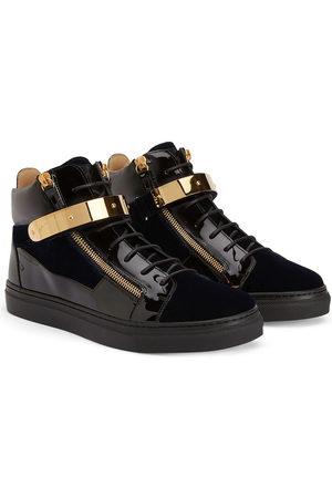 Giuseppe Zanotti Jungen Sneakers - Kriss 1/2 velvet-detail sneakers