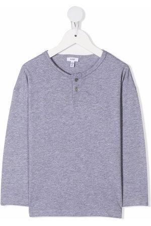 KNOT Jungen Lange Ärmel - Henley buttoned neck T-shirt