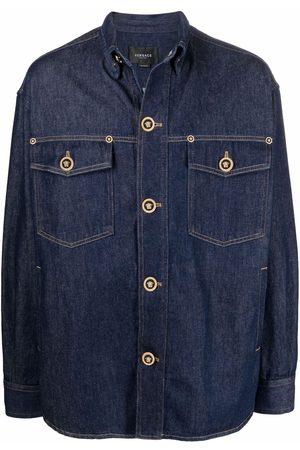 VERSACE Medusa-button denim jacket