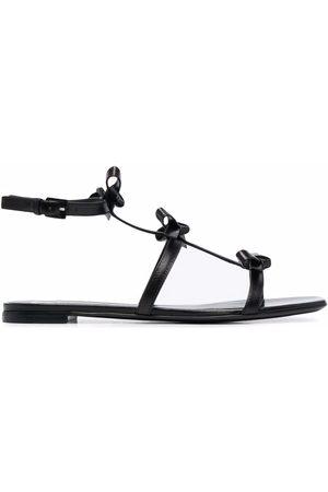 VALENTINO GARAVANI Damen Sandalen - Bow-detail multi-strap flat sandals