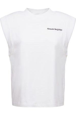 Alexander McQueen T-shirt Aus Baumwolljersey Mit Logo