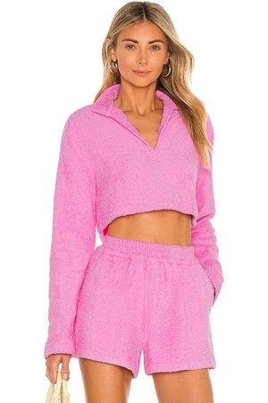 ATOIR The Nikko Crop Sweatshirt in - Pink. Size L (also in XS, S, M).