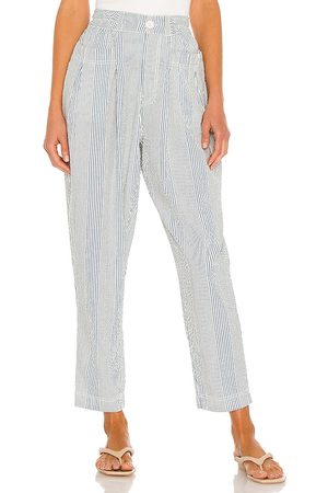 Free People Make A Stand Trouser in - Blue. Size L (also in XS, S, M).