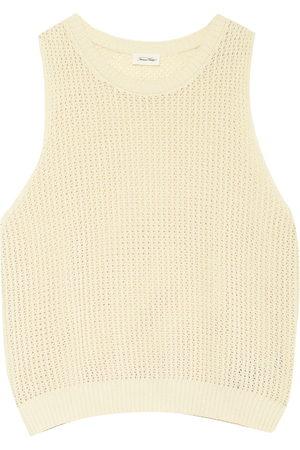 American vintage Damen Shirts - Stricktop weiss