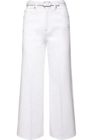 VALENTINO Damen Taschen - Jeans Aus Baumwolldenim Mit Gürtel