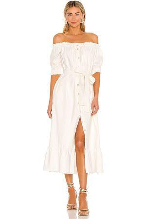 Tularosa Damen Midikleider - Kami Midi Dress in - Cream. Size L (also in XS, S, M, XL).